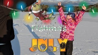 Ice Fishing for Bass - Fishmas In July