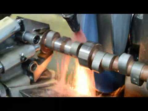 COME Racing grinding a Holden V8 steel roller camshaft
