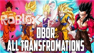 "Roblox   Dragon Ball Online Revelations todas as transformações ""SSJ SSJ2 SSJ3 SSJ4 SSJG SSGSS"""