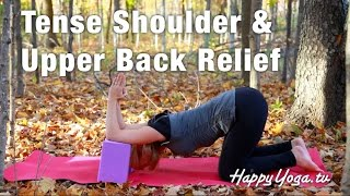 5 Minute Stretch For Tense Shoulders and Upper Back with Happy Yoga