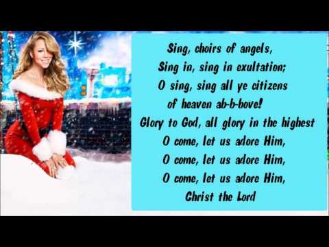 Mariah Carey - O Come All Ye Faithful / Hallelujah Chorus + Lyrics