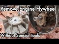 1950s David Bradley Chainsaw Restoration 03: Remove Engine Flywheel without Special Tool / Puller