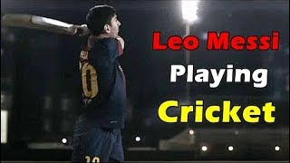 Football Stars Gives Cricket A try : Lionel Messi, Liverpool