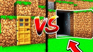 Minecraft NOOB VS PRO: SECRET BASES in MINECRAFT! (W/ UnspeakableGaming)