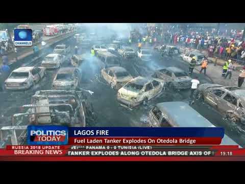 Over 50 Cars Burnt In Lagos Tanker Explosion