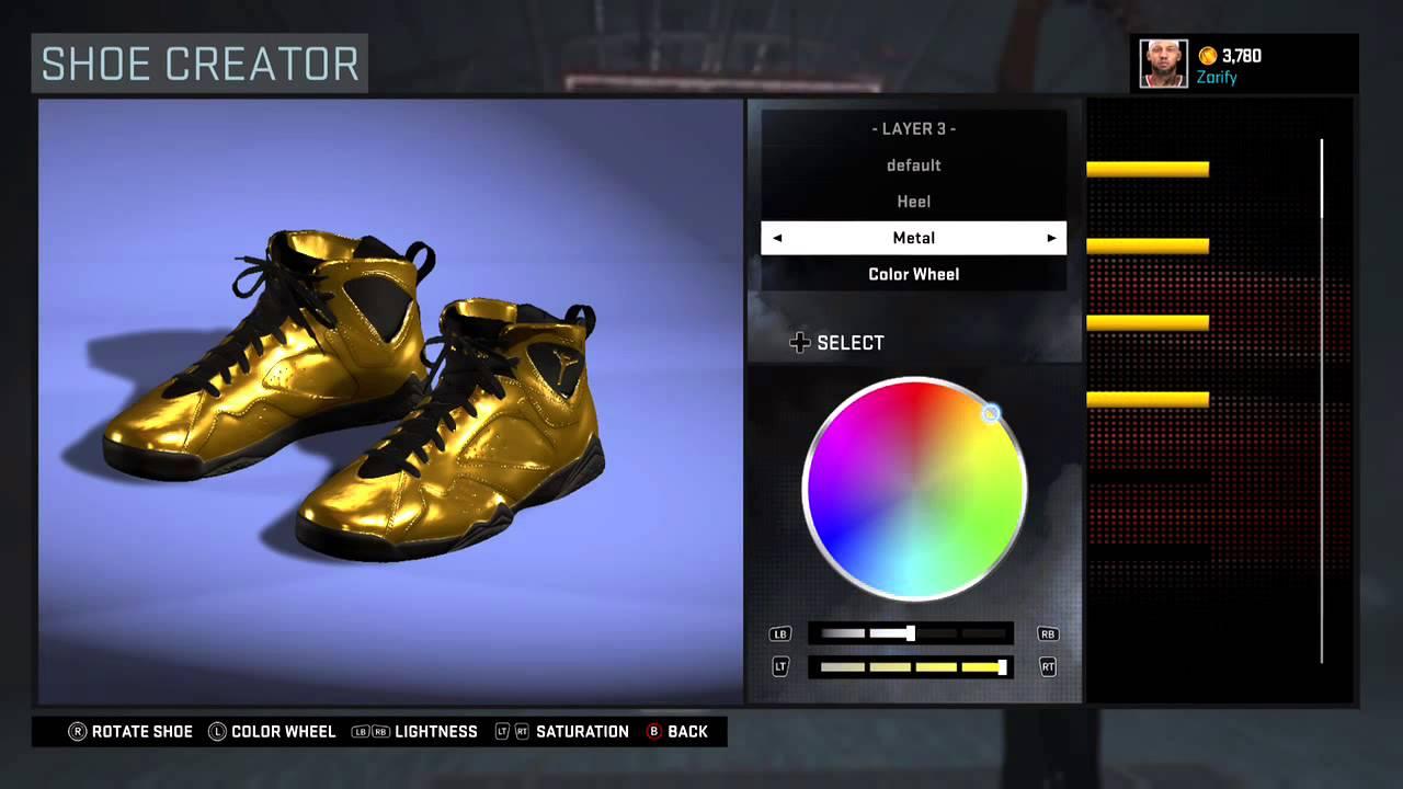 d898e8bdaba NBA 2K16 Shoe Creator - Air Jordan 7 Custom