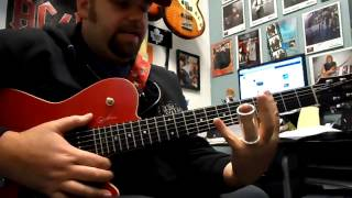 Open G tuning slide guitar lesson. Led Zeppelin In my time of dying (live version)