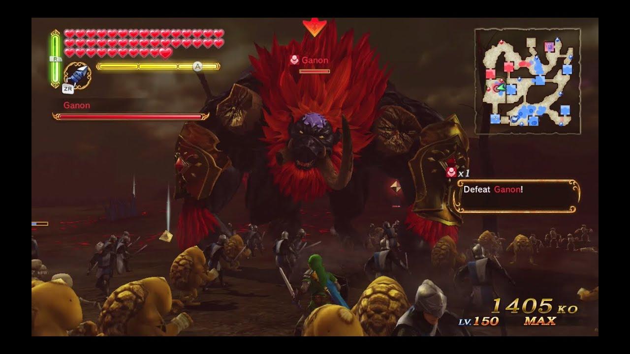 Hyrule Warriors Final Boss Battles The Demon King Ganondorf And Dark Beast Ganon Ganon S Tower Youtube
