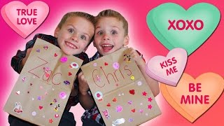 Twins Valentine Haul Kindergarten Tales
