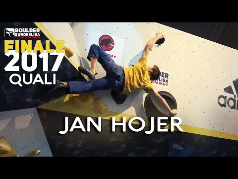 Jan hojer runs up the final qualification problems | boulder-bundesliga highlights