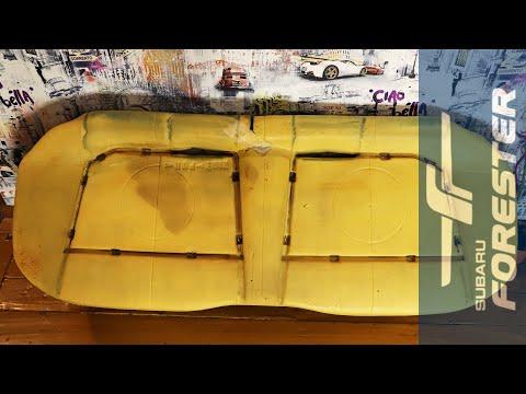 Стирка обивки заднего сидения.Сборка.Subaru Forester SF