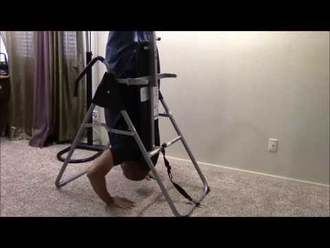 HOW TO EASE BACK PAIN --Gravity Inversion Table Body Power IT8020