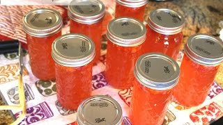 ~Canning Habanero Rhubarb Jelly With Linda's Pantry~