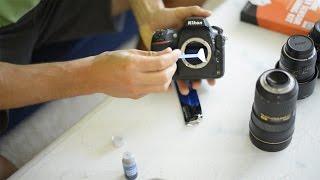 Čištění senzoru digitálního fotoaparátu