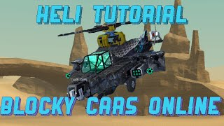 [TUTORIAL] How-To-Make a Apache Helicopter in BLOCKY CARS ONLINE screenshot 1