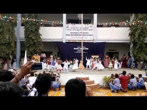 Children's Dance In BHORUKA ENGLISH MEDIUM SCHOOL HARLAPUR, KOPPAL