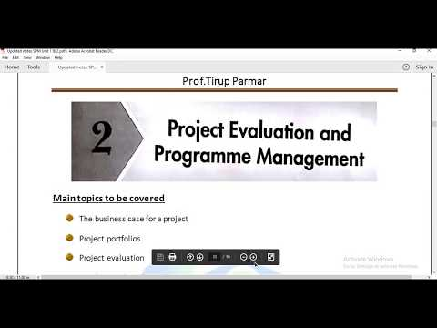 TYBScIT Sem5 - SPM - Unit1 Ch2 -Project Evaluation and Programme Management