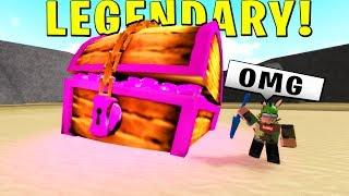 Finding Hidden Legendary Chest! (Treasure Hunt Simulator) ROBLOX