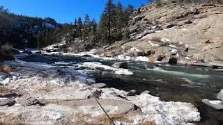Got stuck fishing Eleven Mile Canyon