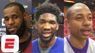 LeBron James, Isaiah Thomas, Joel Embiid react to James Harden