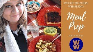 My WW | Blue Plan Meal Prep | Blueberry Overnight Oats & Turkey Sausage Stir-Fry💙