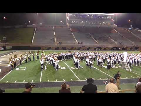 Western Michigan University Bronco Marching Band Playing