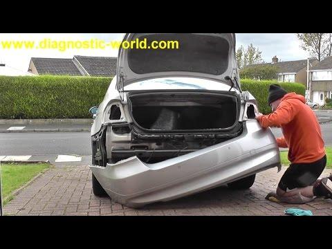 bmw rear bumper replacement  BMW E90 Rear Bumper Removal Guide - YouTube