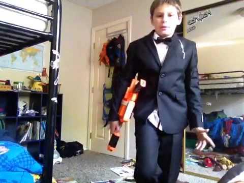 Homemade james bond costume for halloween youtube - James bond costume ...