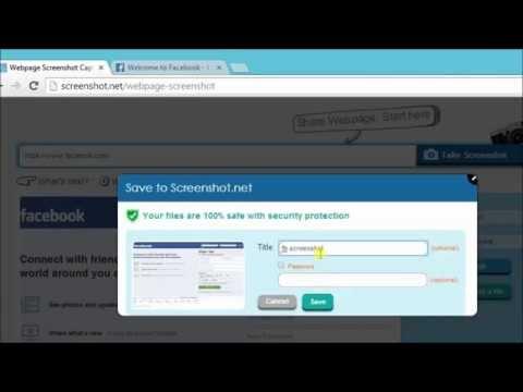 How To Capture Webpage Using Webpage Screenshot Capture