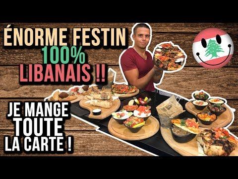 ÉNORME FESTIN 100% LIBANAIS !! Je Mange TOUTE LA CARTE !