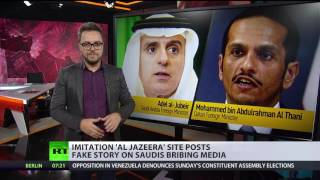 Imitation 'Al Jazeera' site posts fake story on Saudis bribing Russian media