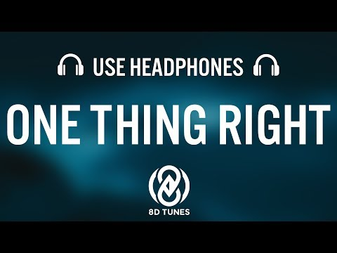 Marshmello & Kane Brown - One Thing Right (8D AUDIO)