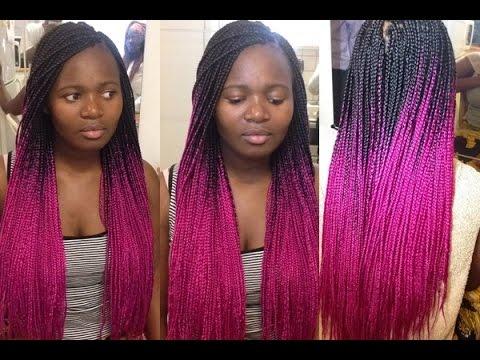 box braids pink tutorial