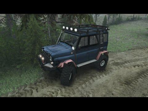 SpinTires обзор мода ( UAZ Hanter v2 для новой версии игры )