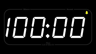100 MINUTE - TIMER & ALARM - 1080p - COUNTDOWN