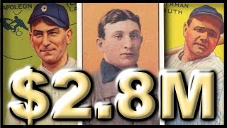 Top 6 Most Valuable Baseball Cards - #53 Babe Ruth Goudey 1933  #106 Nap Lajoie #274 Joe DiMaggio