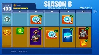 SEASON 8 BATTLE PASS LEAKED! (Fortnite: Battle Royale)