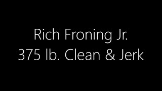 Liftoff 2015 - Event 2 - Rich Froning - Clean and Jerk 375