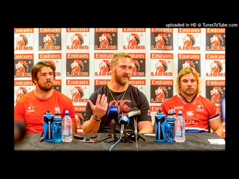 Lions coach Johan Ackermann, captain Warren Whiteley and scrumhalf Francois de Klerk