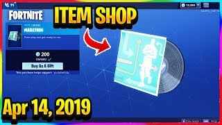 BOUTIQUE D'ARTICLES FORTNITE 'NEW' MARATHON MUSIC PACK AND DIGITAL WRAP! ITEM SHOP (14 avril 2019)