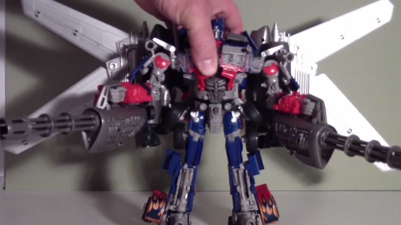 TRANSFORMERS 3 JETWING OPTIMUS PRIME - TOY REVIEW - YouTube