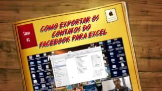 COMO EXPORTAR OS CONTATOS DO FACEBOOK PARA O EXCEL