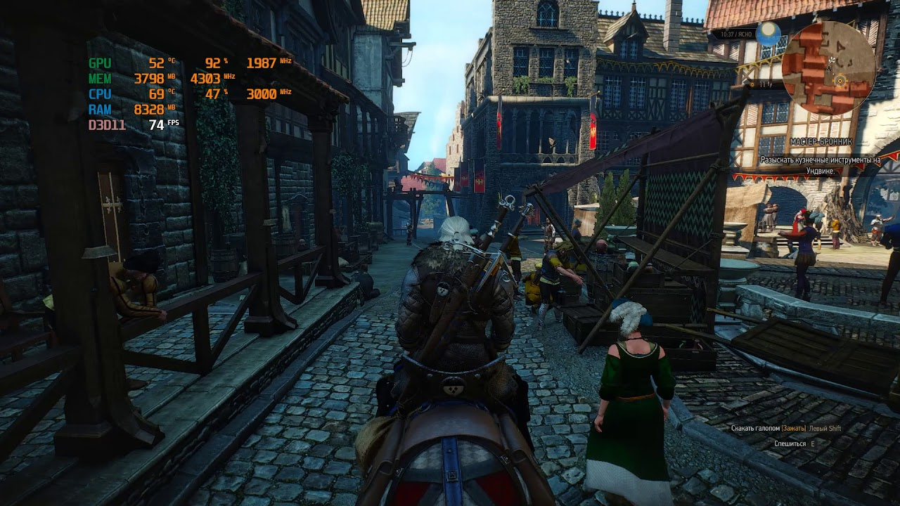 Intel Xeon E5-2667 V3 ES - Witcher 3 (1070Ti)