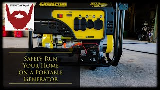 How to safely rขn your whole home on a portable generator.