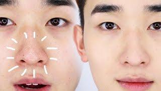 Getting rid of LARGE PORES | Korean Skincare + Makeup