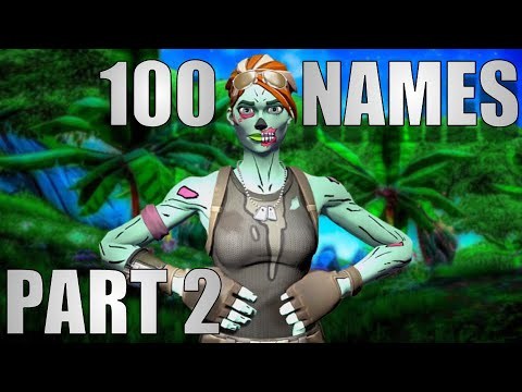 100 Tryhard Fortnite Names Part 2 (NOT TAKEN)