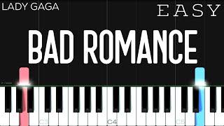 Lady Gaga - Bad Romance | EASY Piano Tutorial