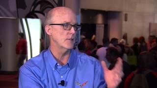 Tom Peters, director of exterior design for General Motors' performance cars visits SEMA Central