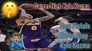 Pistons vs Lakers Kyle Kuzma Career-High Help The Lakers Blow Out Pistons 01-09-2019 (Reaction)