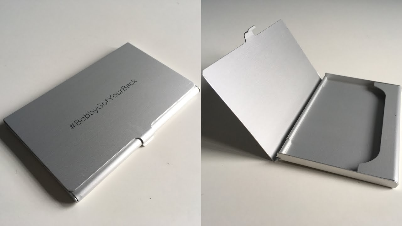 Xd design aluminium business card holder unboxing and testing youtube xd design aluminium business card holder unboxing and testing colourmoves